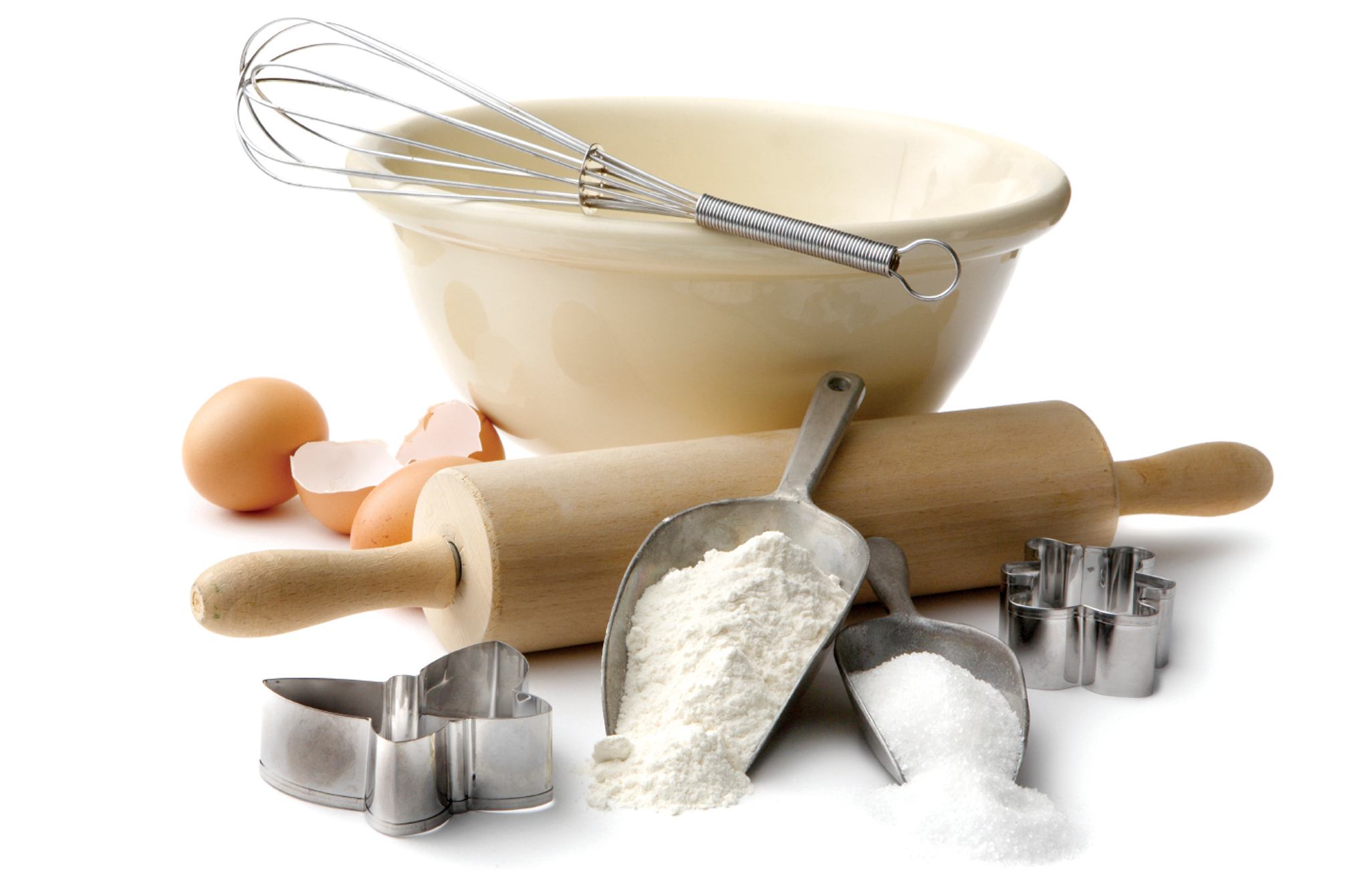 baking utensils Fill your kitchen cabinets with our baking supplies: sheets, bread pans & more nothing beats the smell of freshly baked breads, pies and cookies.